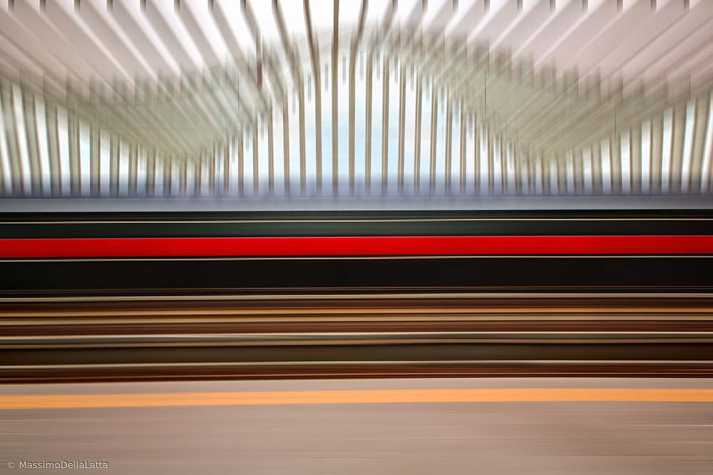 Fotokonst The red line