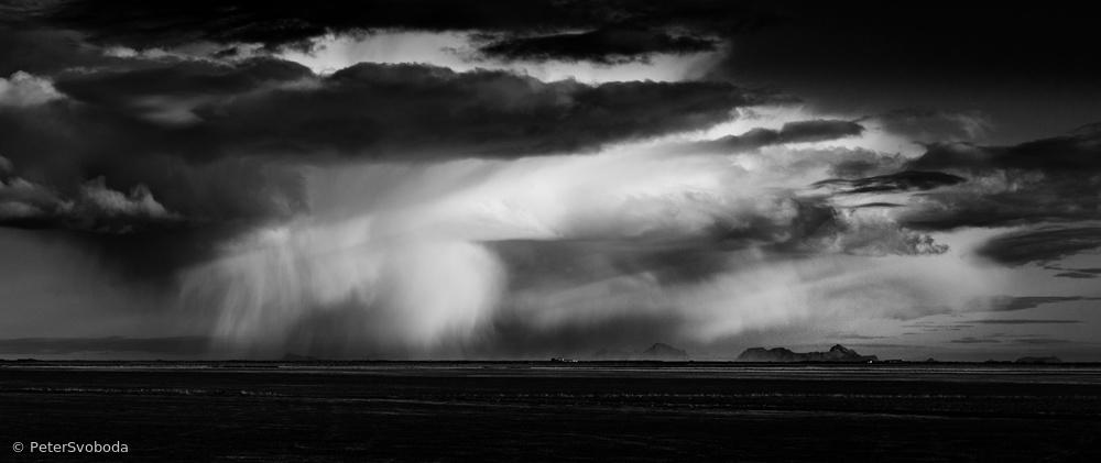 Poster Storm over Westmannayer islands