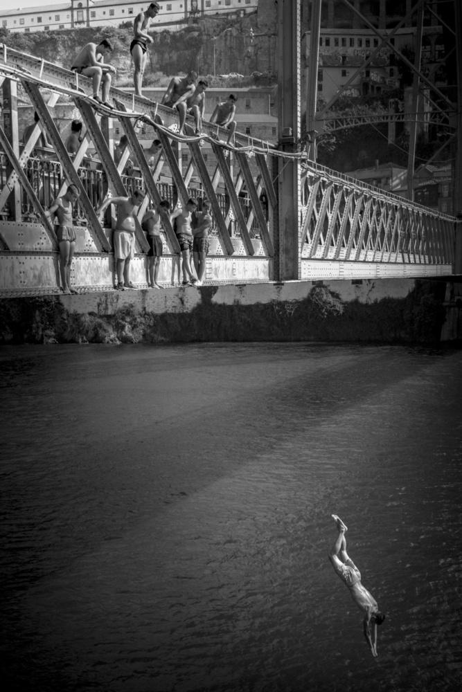 Fotokonst Bridge over Douro - Luis I