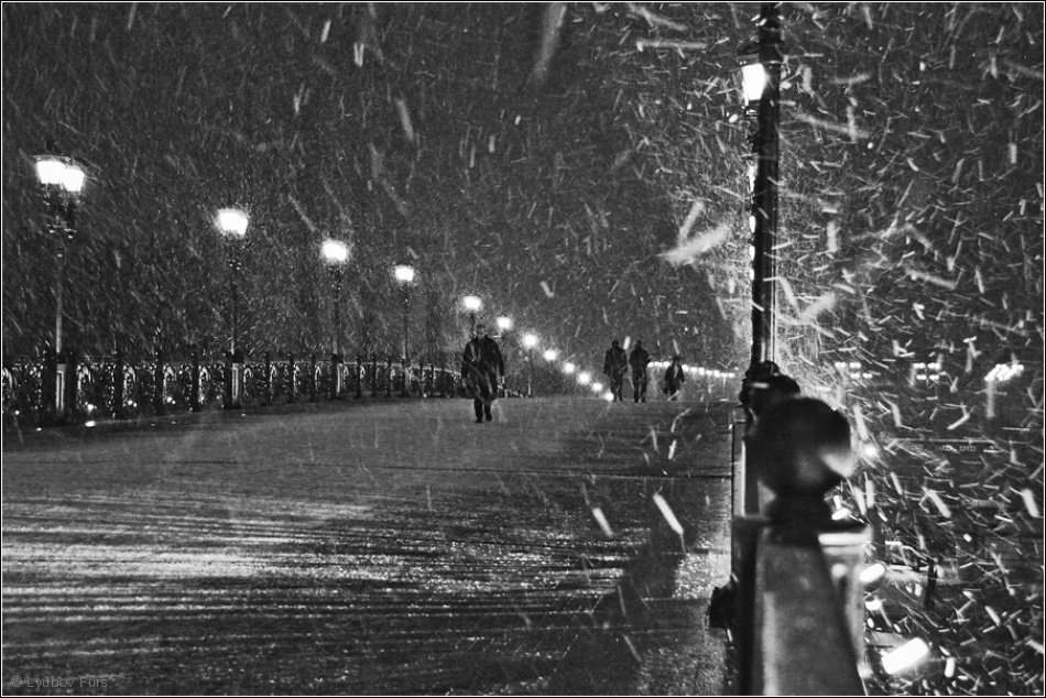 Fotokonst The Moscow blizzard