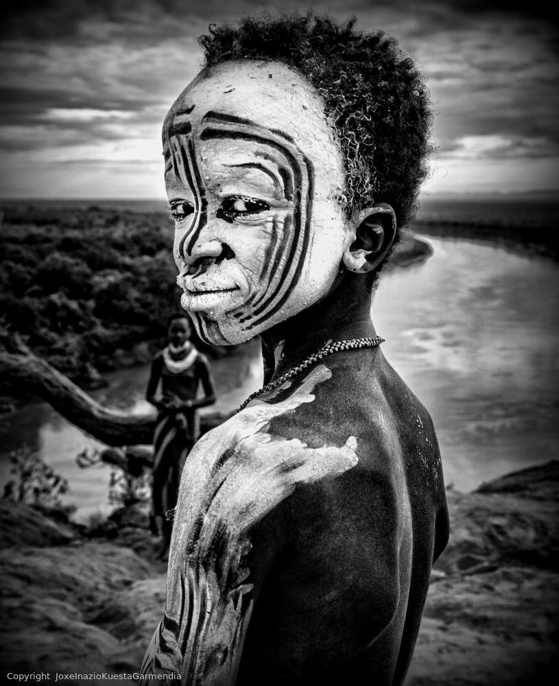 Poster A boy of the Karo tribe. Omo Valley (Ethiopia).