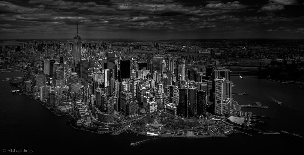 Fotokonst Manhattan - birds eye view