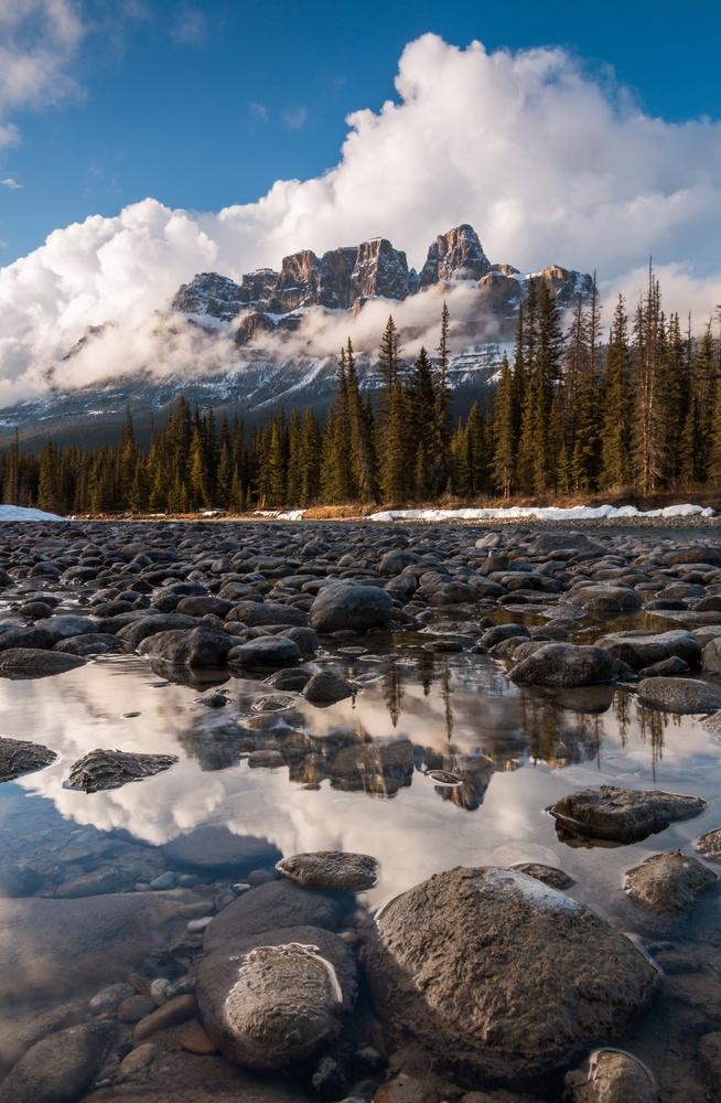 Fotokonst castle mountain