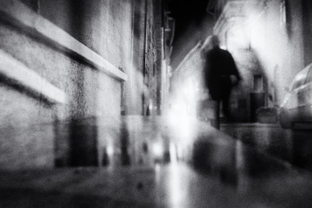 Fotokonst in the light of the night
