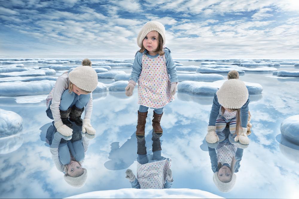Fotokonst Just a frozen lake