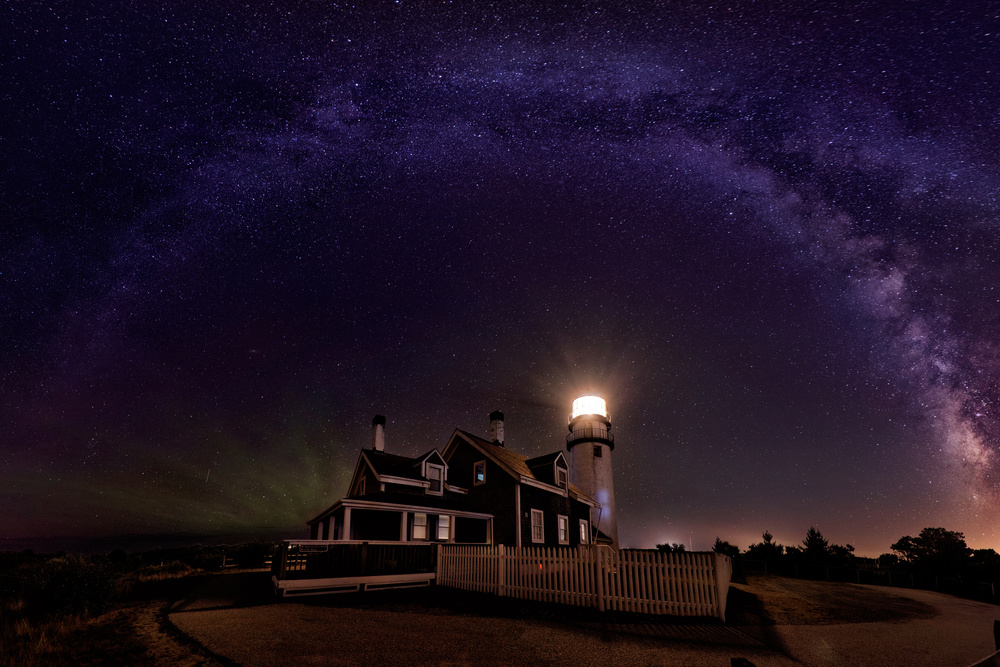 Fotokonst Milky way over the Highland Lighthouse
