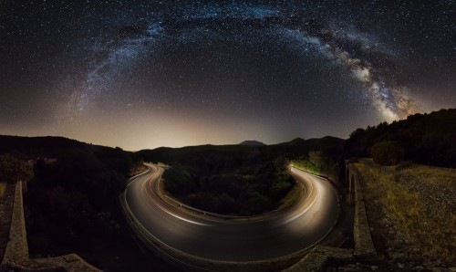 Starry road by Ivan Pedretti