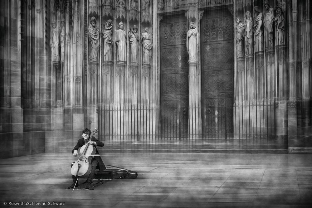 Fotokonst the cellist