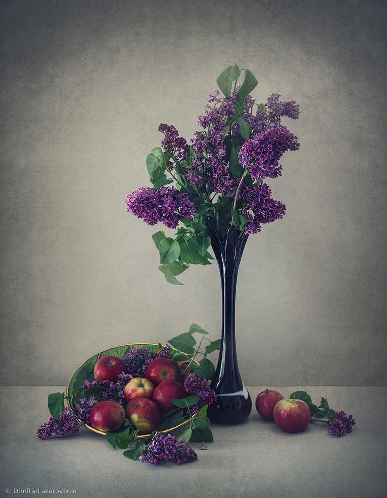 Fotokonst Still life with lilac
