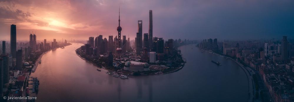 Fotokonst Flying Shanghai