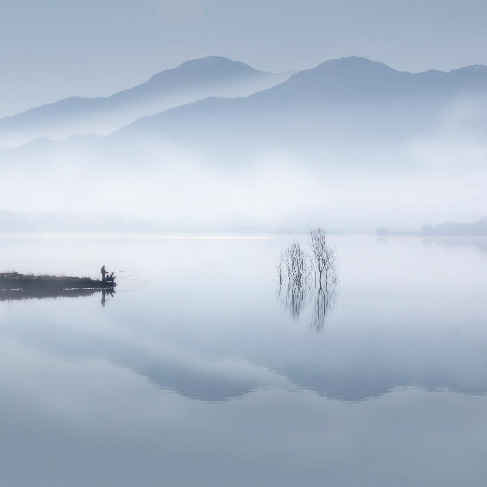 Fotokonst Blue silence