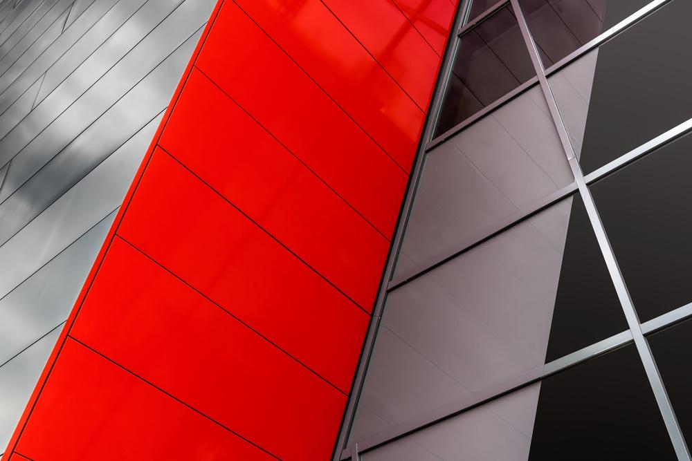 Fotokonst Commercial red