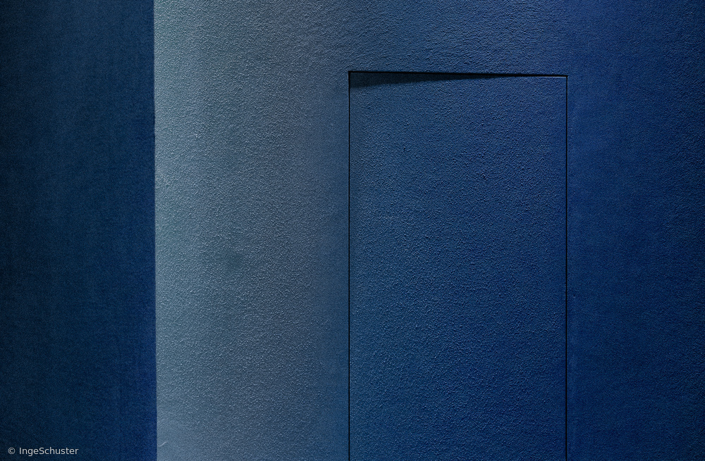 Blue Minimalism Or A Secret Door